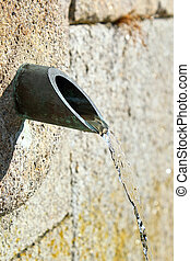 Fountain of water - Wall fountain of clean water