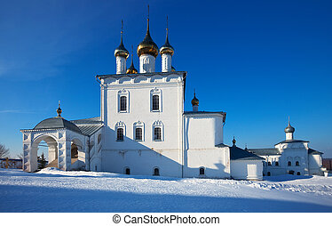 Trinity Cathedral in winter. Russia - Trinity Cathedral...