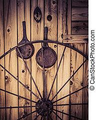 Wagon wheel wild west theme - Wagon wheel with western...