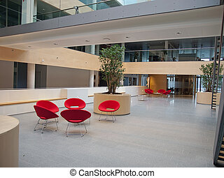 Modern waiting room reception - Modern style office hospital...