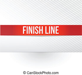 finish line red tape illustration