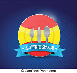 Traditional spanish restaurant , menu illustration design...