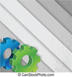 color gears background illustration design