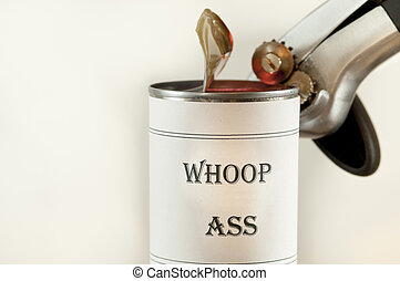 Can of Whoop Ass - Opening a can of Whoop Ass.