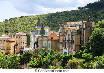 Picturesque houses at Tibidabo mount Barcelona - Old street...