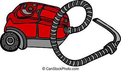Vacuum Cleaner Hoover Vector - Isolated vector hand drawn...