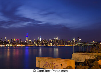New York Skyline as seen from Brooklyn