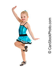 Cute and Sassy Child Tap Dancer in Costume - Cute Little...