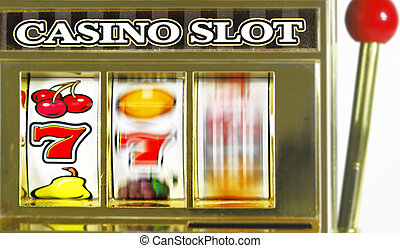 slots - old fruit machine spining