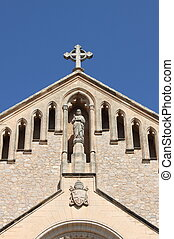 Parish church in Arta - Facade of Parish church in Arta....