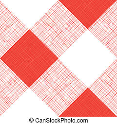 Vector Seamless Picnic Tablecloth Pattern With Red Color