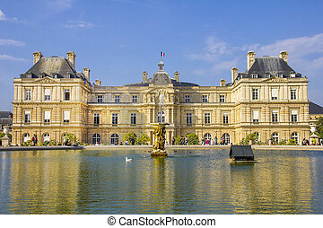 French Senate and the Jardin du Luxembourg, Paris, France