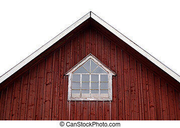 Barn window - Window in an old red barn