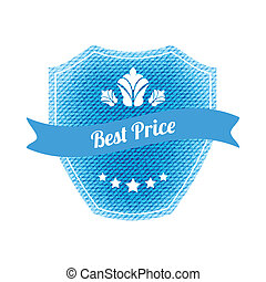 best price label with special jeans design