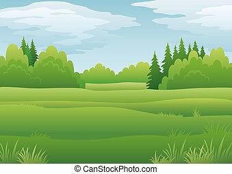 Landscape, summer forest - Background landscape, summer...