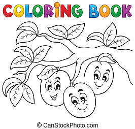 Coloring book fruit theme 3