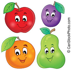 Fruit theme image 1 - eps10 vector illustration.