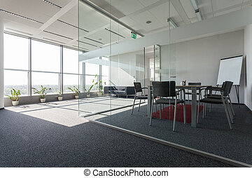 Business centre - Spacious interior with a modern conference...