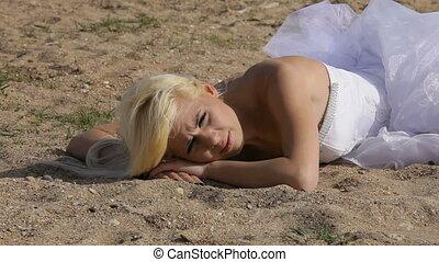 Bride on the shore