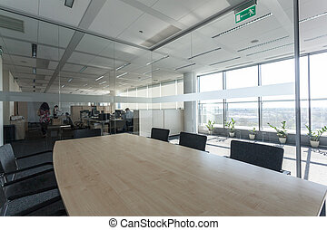 Meeting room - Glass meeting room in a new office centre