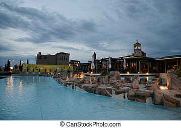 Orthodox church in Thessaloniki, Greece, night shot