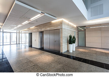 Corridor in business centre - Modern business centre,...
