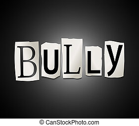 Bully concept. - Illustration depicting a set of cut out...