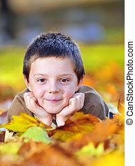 autumn boy  portrait