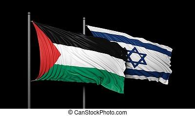 relación, entre, israel, palestina