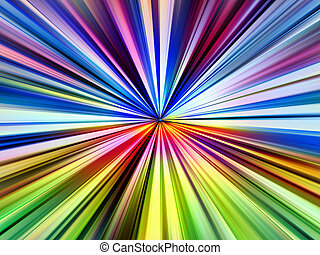 Multicolored pinpoint light rays illustration.