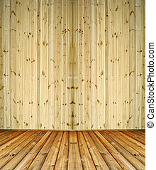 Abstract wooden room