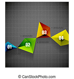 Modern geometrical shape template - Modern vector...