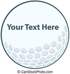 Golf Ball Sign Cartoon Character