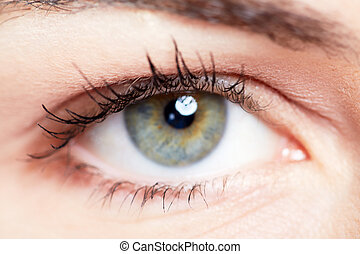 Woman eye. - Beautiful young woman eye closeup. Vision...