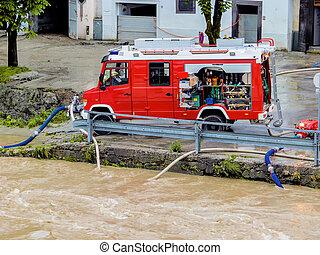 flood in 2013 in steyr, austria