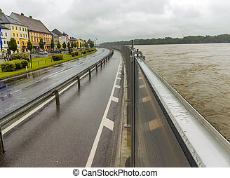 flood, 2013, mauthausen, austria - flood of 2013 mauthausen,...