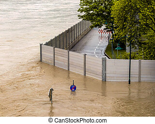 flood, 2013, linz, austria - flood of 2013. linz, austria....