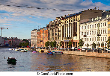 View of St. Petersburg. Fontanka River - View of St....