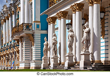 Part of imperial Catherine Palace at Tsarskoye Selo, Russia