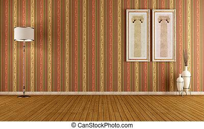 Empty vintage interior with elegant