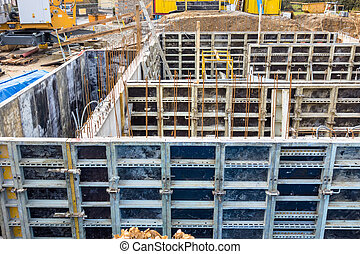 construction site, basement, formwork, symbolic photo for...