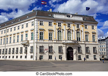 austria. vienna. federal chancellery - the austrian federal...
