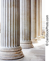 columns at the parliament in vienna, symbolic photo for...