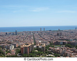 streetscape - barcelona air landscape...