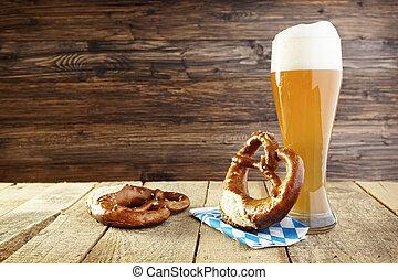 Oktoberfest, cerveza,  Pretzel