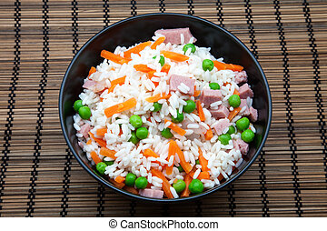 bowl of vegetable fried rice