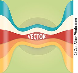 Abstract design element with pastel multicolor line