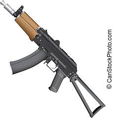 Avtomat Kalashnikova - Automatic Kalashnikov AK-74 with a...