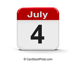 4th July - Calendar web button - Fourth of July,...