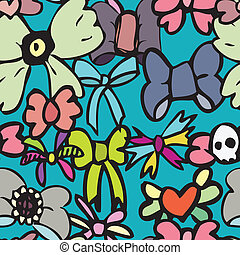 Seamless Bow Pattern - A seamless pattern of various...